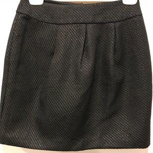 FOREVER 22 Shiny Black Pleated Skirt